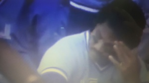 1987 AL MVP George Bell moments after Tigers clinch division title