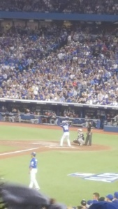 Jose Bautista bats in the 8th inning Game 4 ALCS